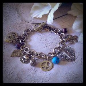 Vintage Multi-charm Charm Bracelet